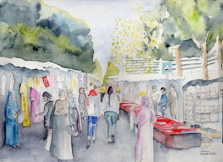 le marché sous covid-Annie Conter